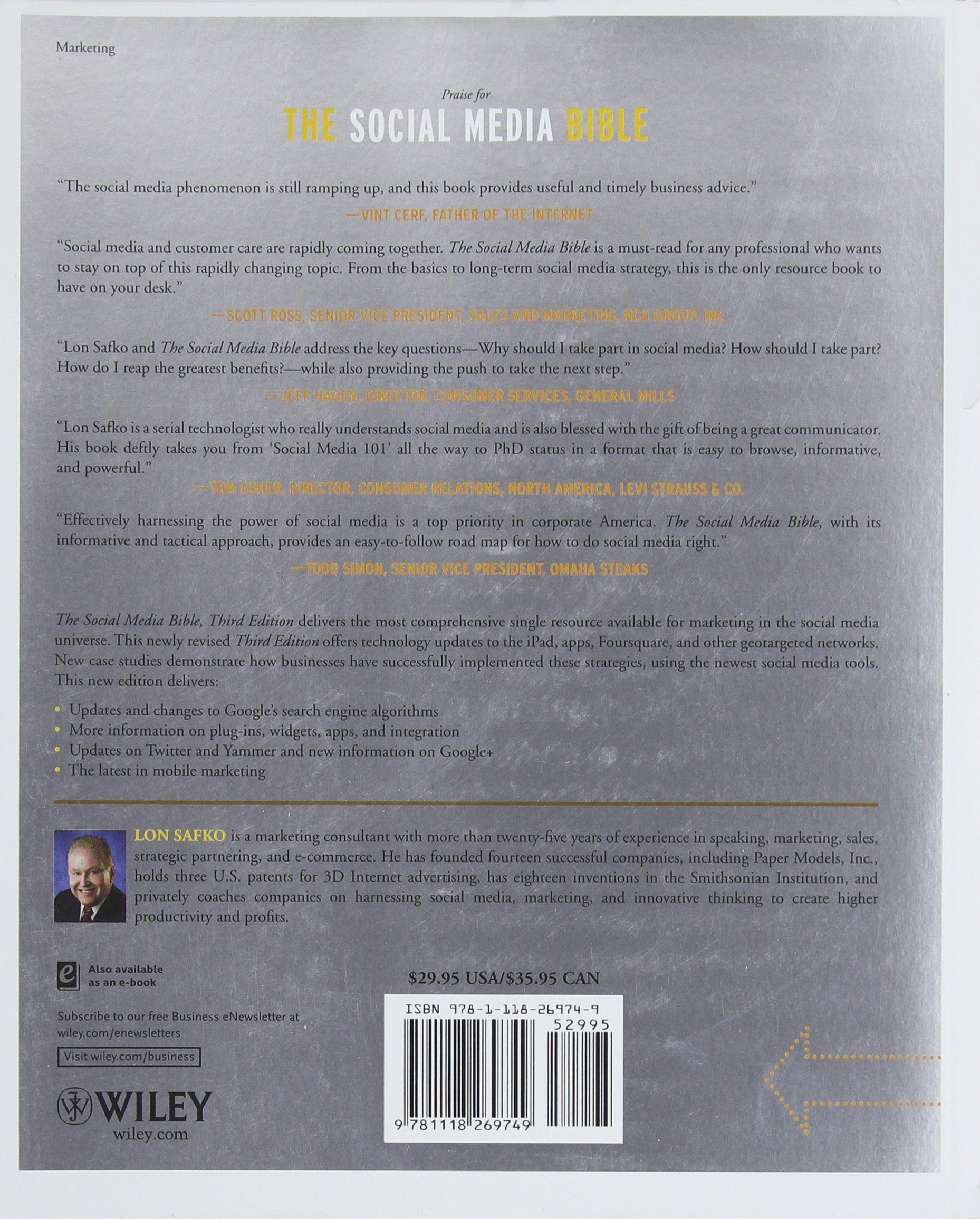The Social Media Bible: Tactics, Tools, and Strategies for Business  Success: Lon Safko: 8601400125236: Amazon.com: Books