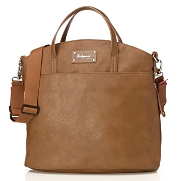 28bda41aeb82e Babymel Grace Faux Leather Satchel Diaper Bag, Tan: Amazon.co.uk: Baby
