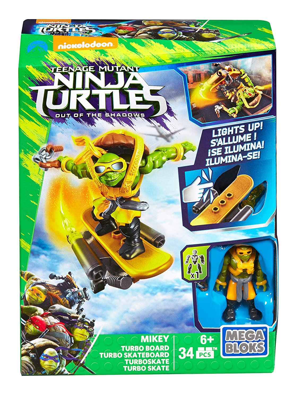 Mega Bloks Tortugas Ninja Película 2 - Turbo monopatín Mikey ...