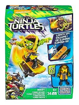 Mega Bloks Tortugas Ninja Película 2 - Turbo monopatín Mikey