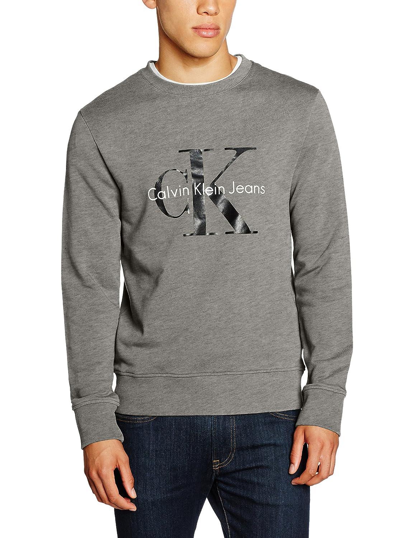 Calvin Klein Jeans Herren Sweatshirt Crew Neck Hwk True Icon