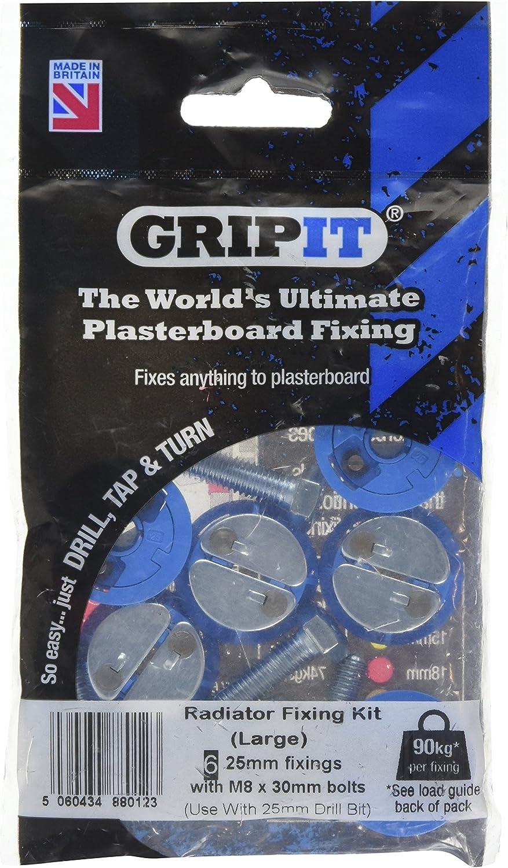 Fijaciones para pladur GripIt Azul 25mm para paredes de entramado paquete de 4 carga m/áxima 113 Kg