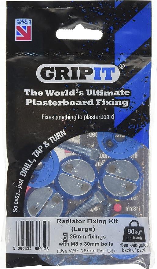 GripIt TwistIT Self-Drive Plasterboard Fixing for Stud Walls 100 Pack