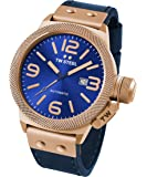 TW Steel CS66 Men's Canteen Leather Blue Dial Blue Strap Automatic Watch