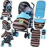 iSafe Stroller - iDiD iT Design Complete with Footmuff Headhugger, Raincover, Bumper Bar