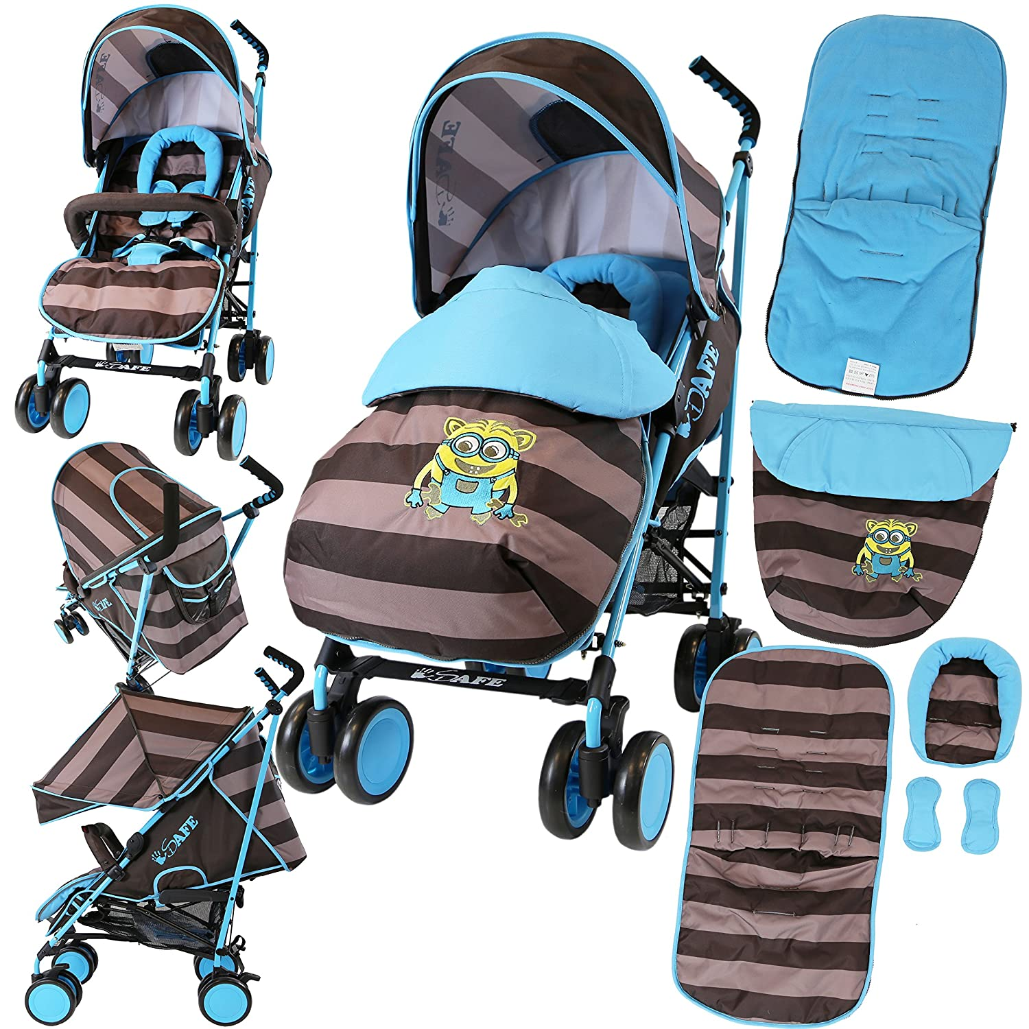 iSafe Stroller - iDiD iT Design Complete with Footmuff Headhugger, Raincover, Bumper Bar iSafeStrMea