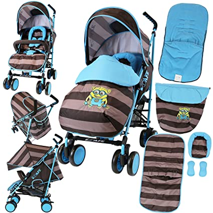 iSafe - Cochecito de bebé iDiD iT completo con funda para los pies, cubierta para