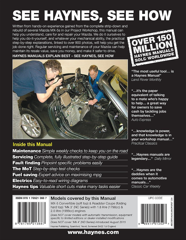 /Juli 2015//'55 /'15/Haynes Handbuch Mazda MX-5/MX5/OCT 2005/