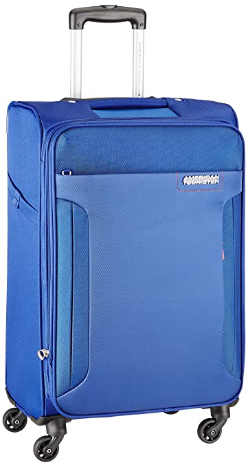 31fc8a37c510 American Tourister Troy Polyester 68 cms Royal Blue Softsided Suitcase (AMT  Troy SP68 Royal Blue)