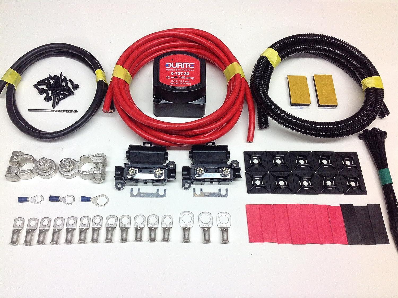 Kit coupleur sé parateur de batterie avec relais dé tecteur de tension SCKD115 12 V 140 A Simply Split Charge