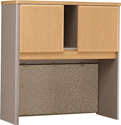 Bush Business Furniture Series A Collection 36W Hutch in Light Oak Sage