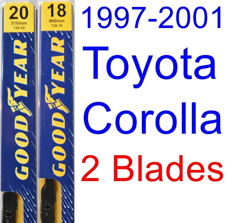 Amazon.com: 1997-2001 Toyota Corolla CE Replacement Wiper Blade Set/Kit  (Set of 2 Blades) (Goodyear Wiper Blades-Premium) (1998,1999,2000):  Automotive