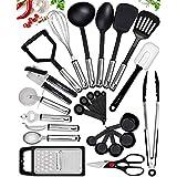 25 Kitchen Utensil Set Home Hero - Nylon Cooking Utensils - Kitchen Utensils with Spatula - Kitchen Gadgets Cookware Set - Ki