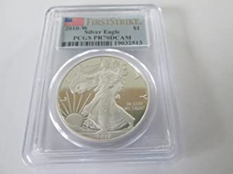 2010-W FIRST STRIKE SILVER EAGLE PCGS PR70DCAM