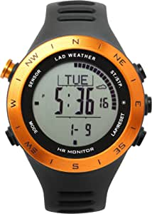 LAD WEATHER Outdoor Watch with Heart Rate Monitor Altimeter Digital Compass Weather Forecast USB Rechargeable