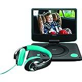 """Lenco DVP-934 Convertible 9"""" Noir Lecteur DVD/Blu-Ray portable - Lecteurs DVD/Blu-Ray portables (22,9 cm (9""""), TFT, 22,5 cm, 16:9, MPEG1,MPEG2,MPEG4, MP3)"""