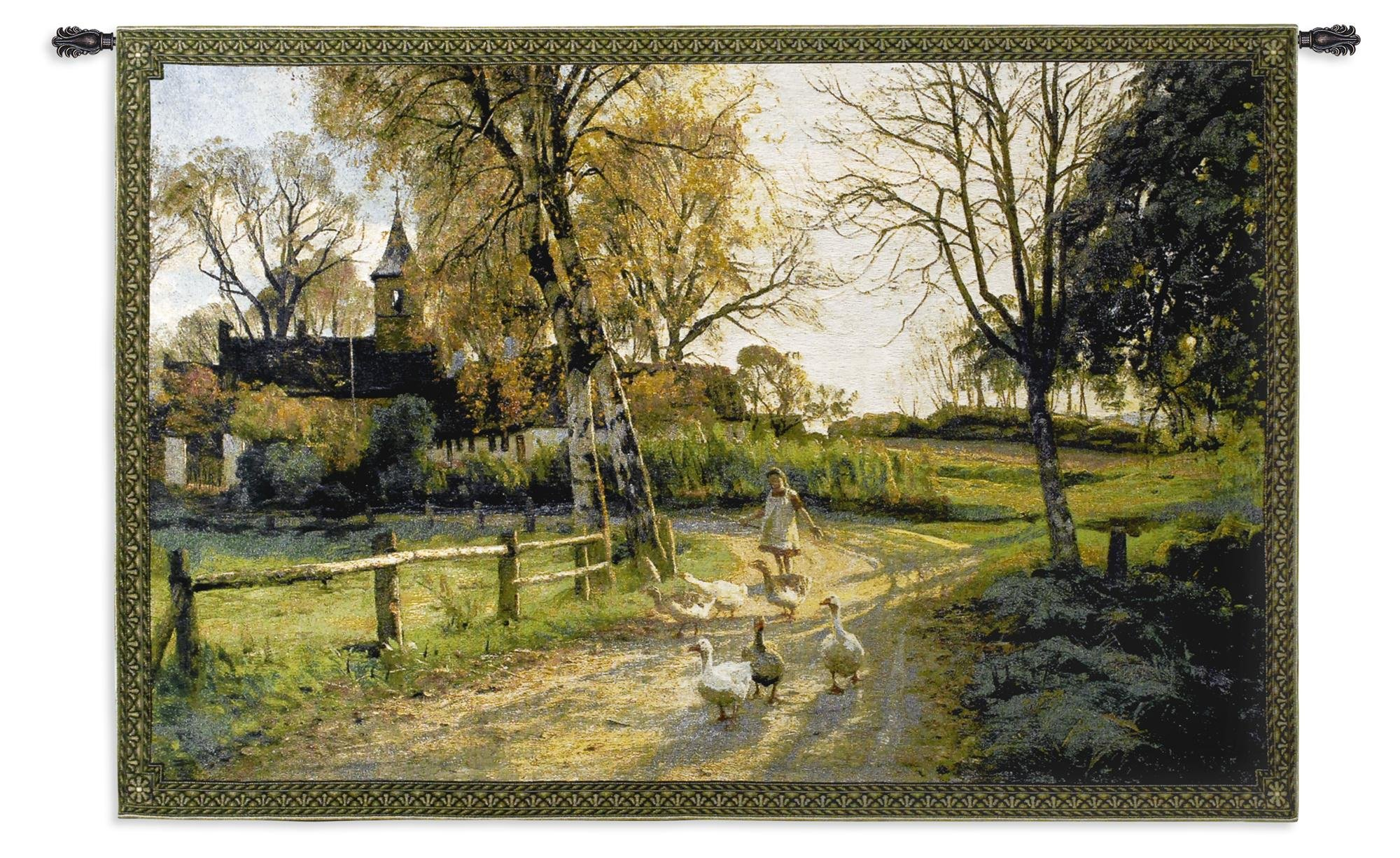 Fine Art Tapestries Goose Girl Wall Tapestry