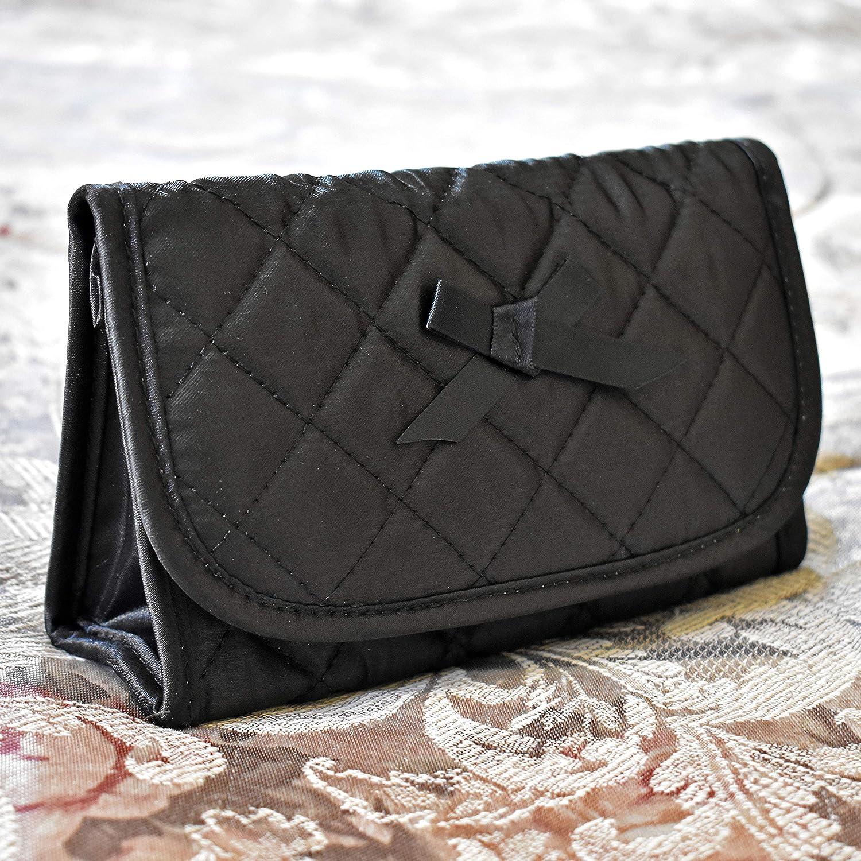 Amazon.com: Bolsa con un espejo cosmético, tela de algodón ...