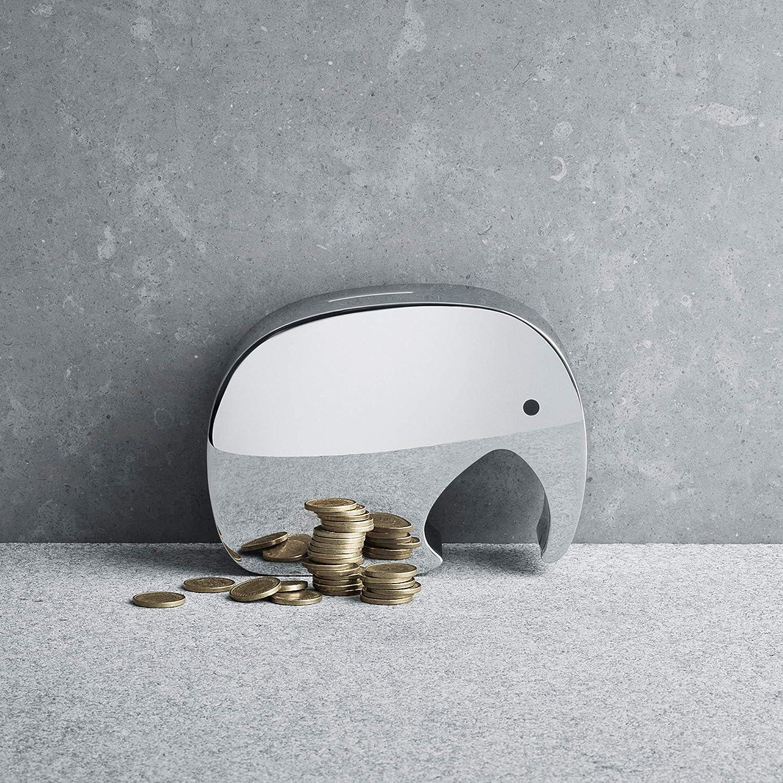 Georg Jensen Moneyphant Money Bank Mirror Polished Stainless Steel by J/ørgen M/øller