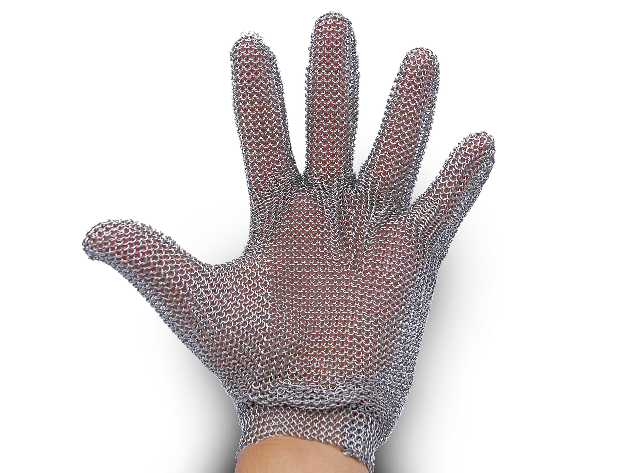 All Stainless Steel, No Fabric - Chainmail Mesh Butcher Glove - Sizes XXS to XL Available - ISO, FDA Compliant by 44Industry (Image #3)