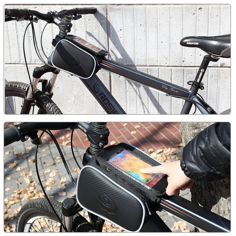 DCCN Fahrradrahmentasche, Oberrohrtasche, Fahrradrahmendoppeltasche ...