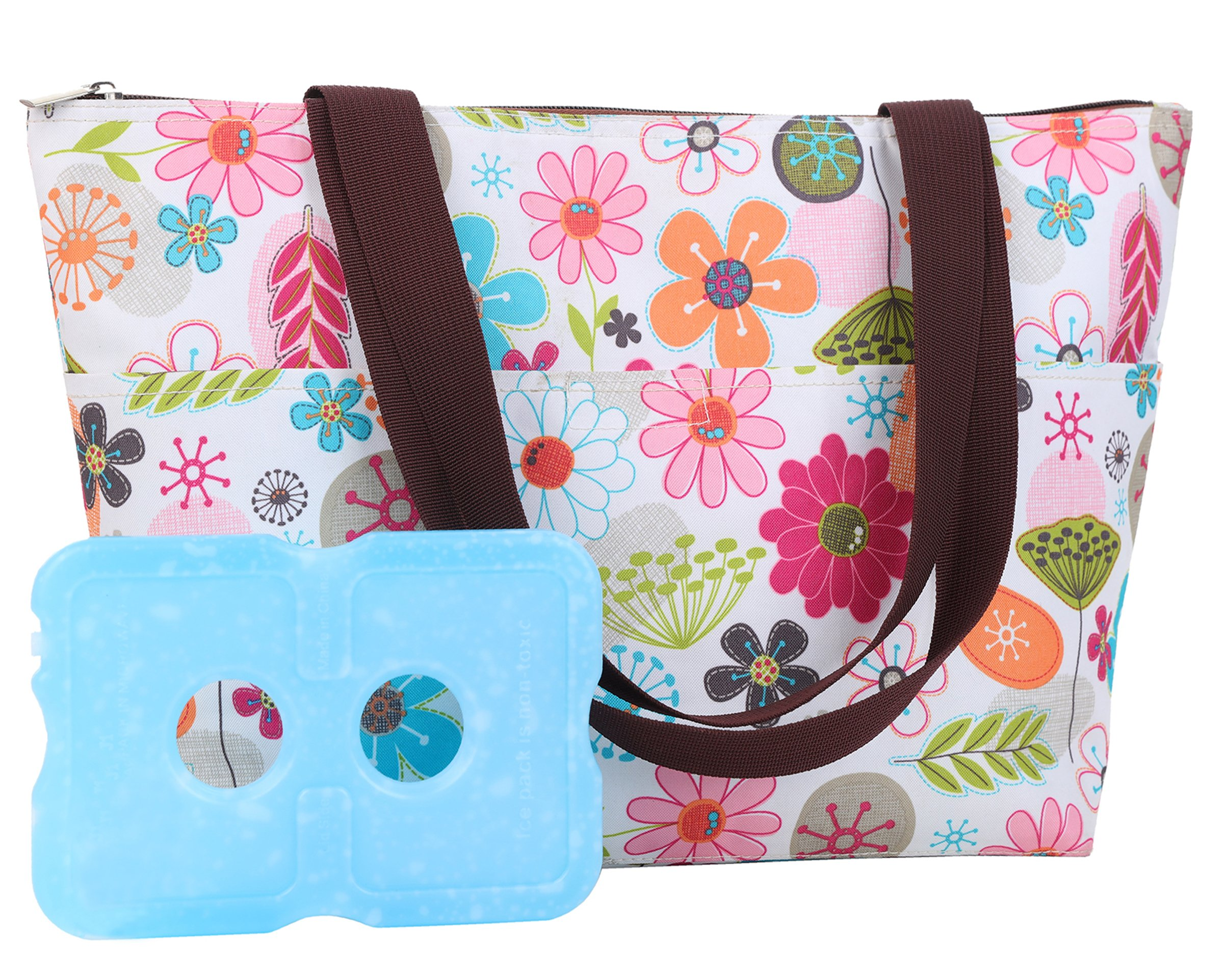 Lunch Bag With Ice Pack Lunch Bag Tote Bag, Recyclable,Picnic Lunch Bag For Women 1 Lunch Bags & 1 Ice Pack VSH331