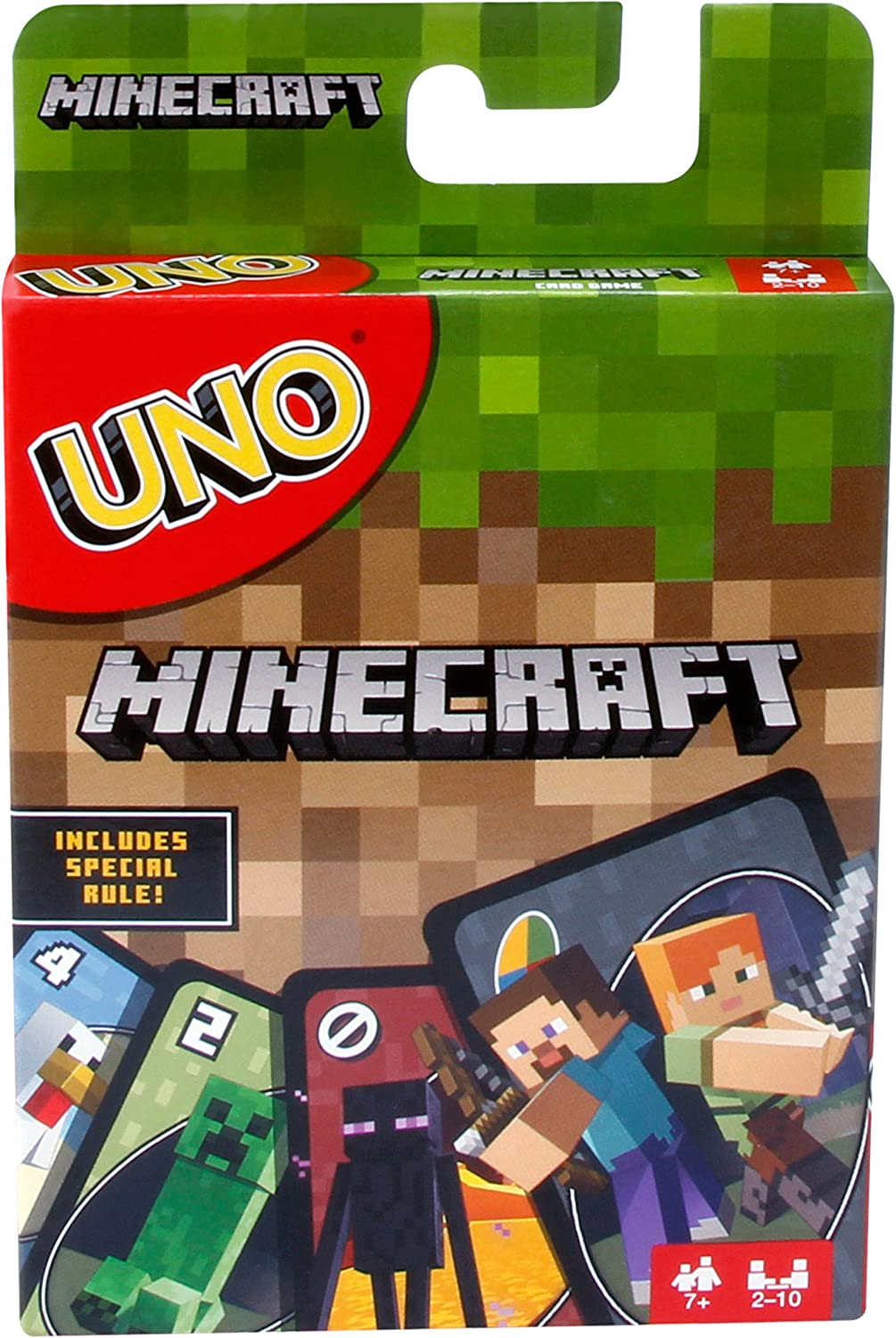 Amazon Com Uno Minecraft Card Game Toys Games