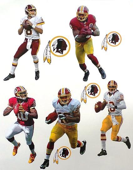 59fcb8bdbc77e Amazon.com  Washington Redskins Mini FATHEAD Team Set 5 Players + 4 ...