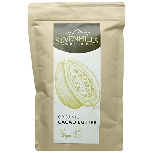 Sevenhills Wholefoods Organic Cacao/Cocoa Butter, Wafers, 300g