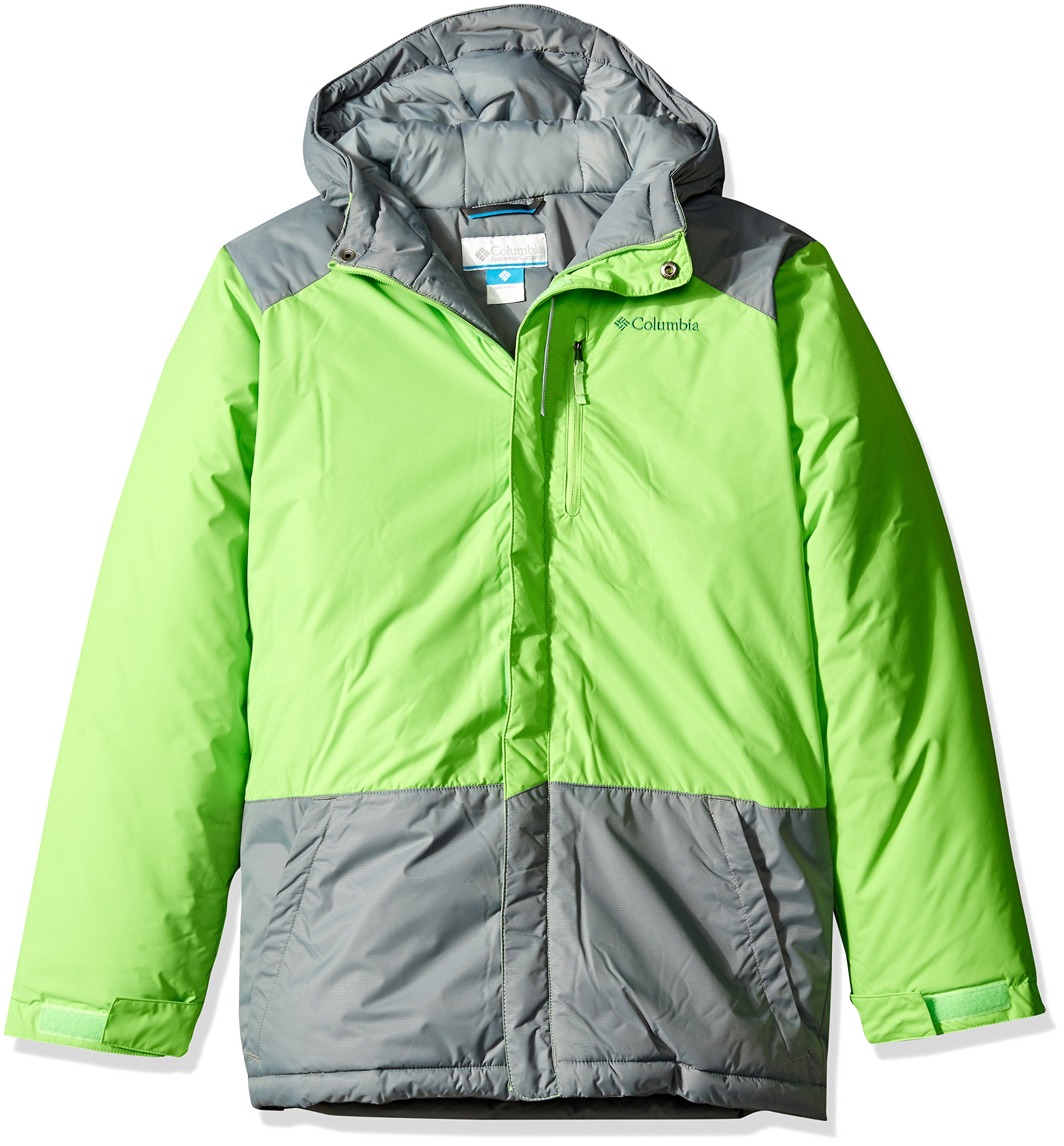 Columbia Big Boys' Lightning Lift Jacket, Green Mamba, Medium