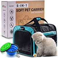 lilpaws 5-in-1 Premium CAT & TSA Airline Approved Soft Pet Carrier Crate