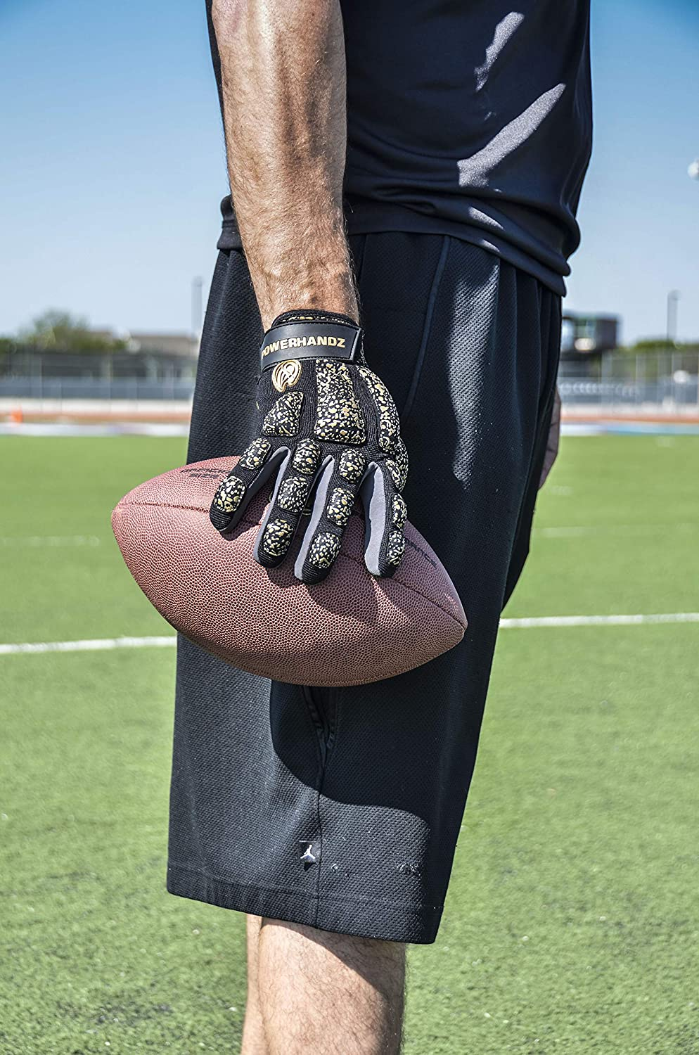 POWERHANDZ Weighted Anti-Grip Football Gloves for Strength and Resistance Training Improve Dexterity and Arm Strength