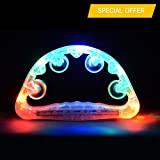 2 X Flashing Tambourine,LED Light Up Bells Rattles Toy,Original Color Luminous Jingle Tambourine Instrument
