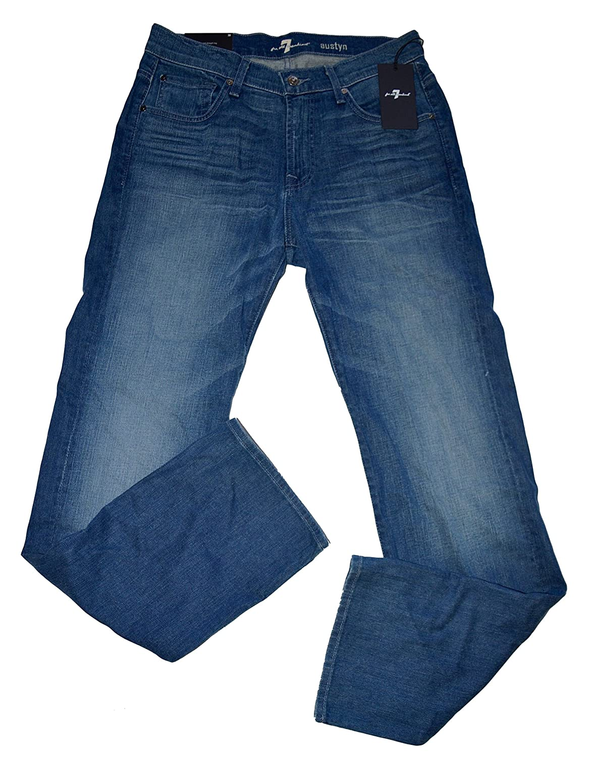 7 For All Mankind Men's Austyn Relaxed Straight Leg Blue Denim Jeans Size 30