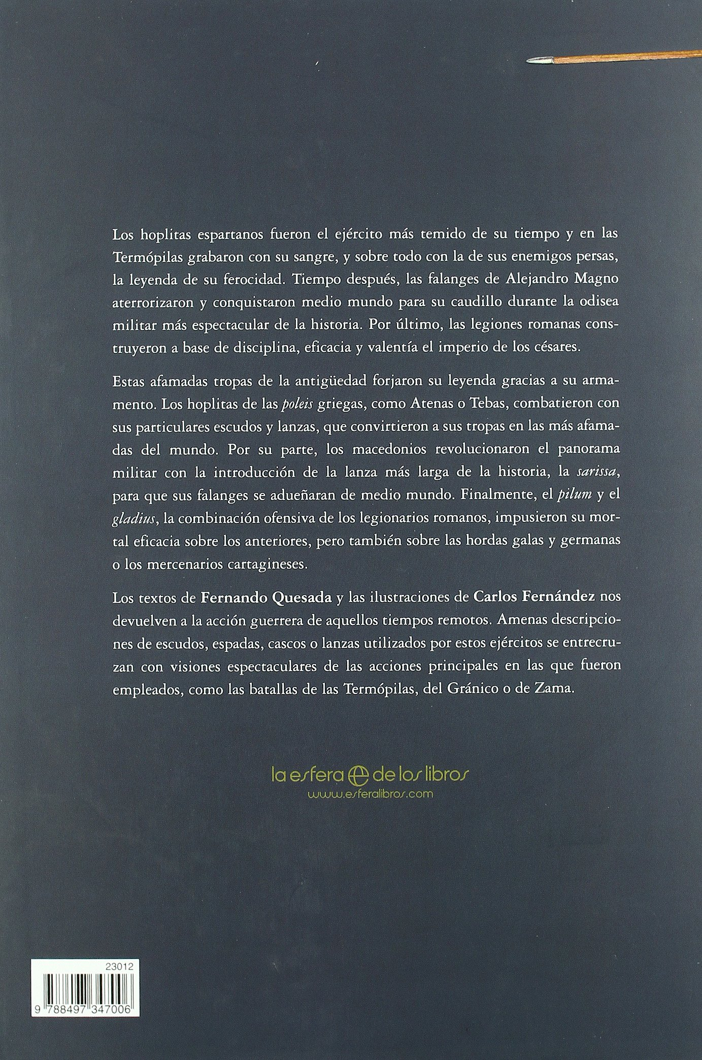 Armas de Grecia y Roma: Forjaron La Historia de La Antiguedad Clasica (Spanish Edition): 9788497347006: Amazon.com: Books