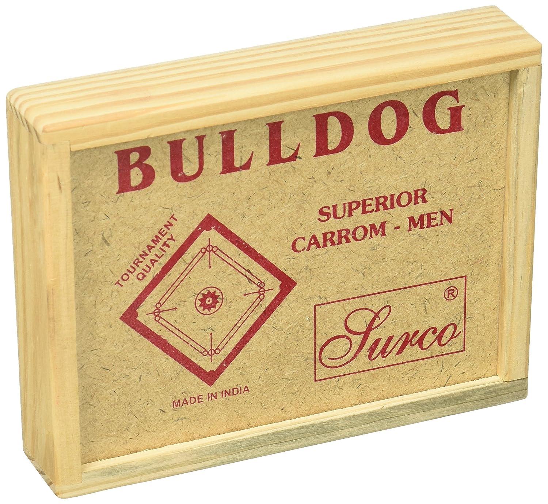 Surco Bulldog torneo calidad Carrom monedas Set