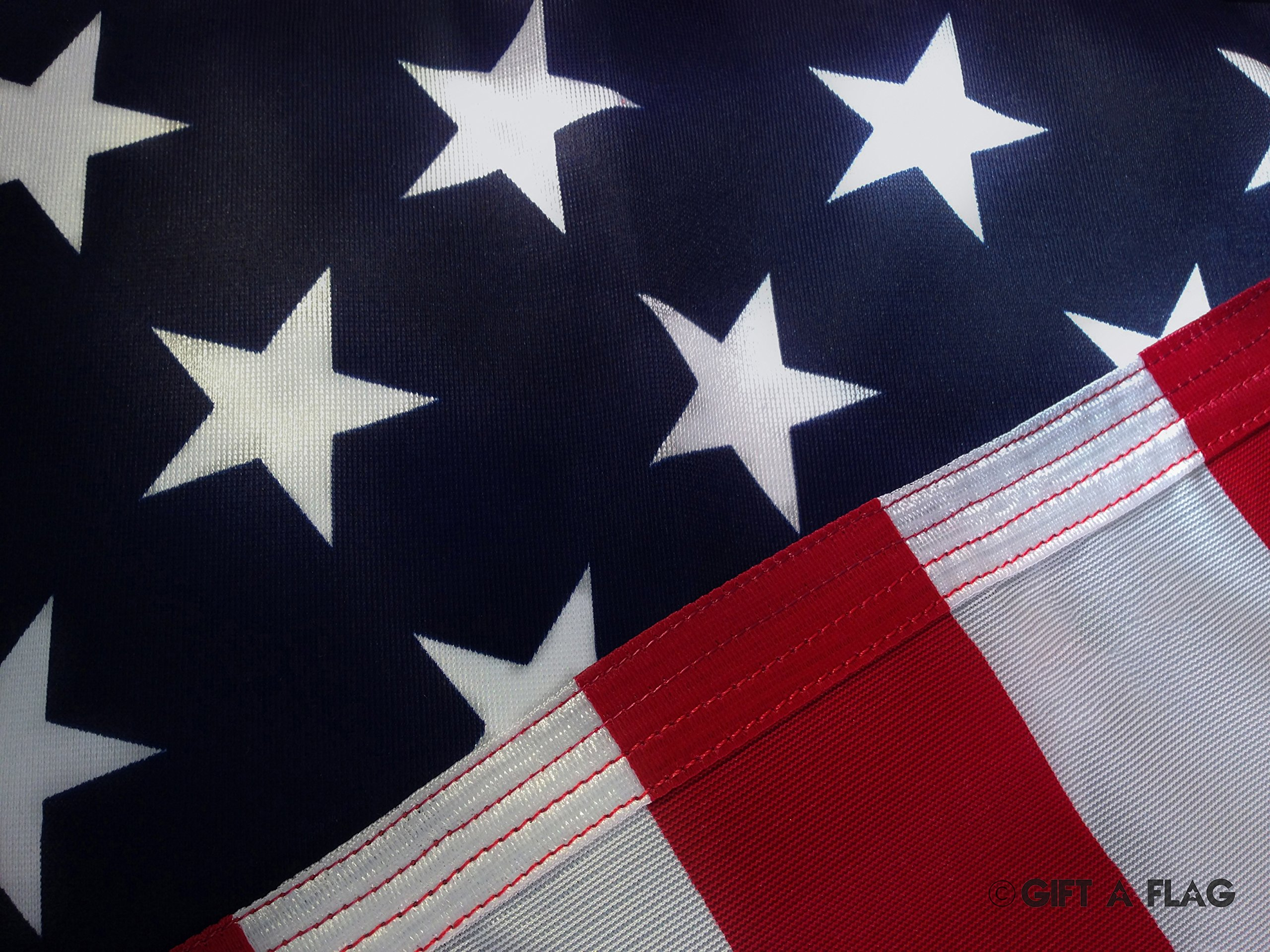 Gift A Flag American Flag. Made in the USA 3x5 foot Knit Polyester U.S. Cloth. Perfect Replacement.