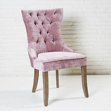 Gmbh Knopfdeko Samt Aus Pink Mit Bezug Wholesaler Esszimmerstuhl Und UVpzMS