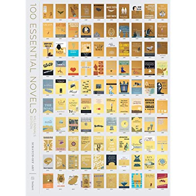 100 Books Scratch-Off Poster - Millennials Edition Essential Novels,18 x 24 Living Room Wall Art Decor, Great Gift for Book Lovers or to Impress Your Friends