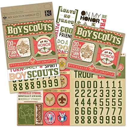 K And Company Boy Scouts Scrapbook Kit Flip Pack Amazon Home