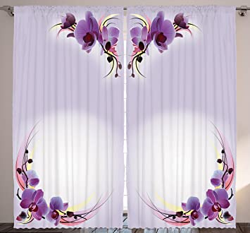 Amazoncom Bedroom Curtains Nature Home Decor By Ambesonne - Amazon living room curtains