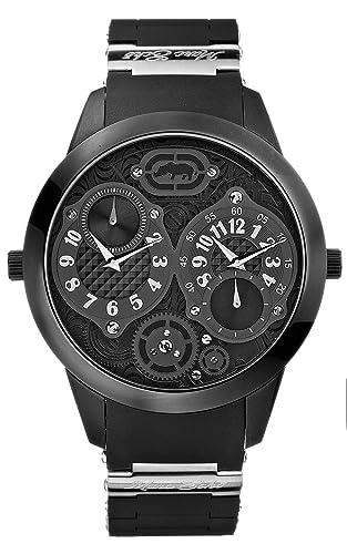 Marc Ecko E18567G1 Gents Dual Tiempo Zona Negro Dial Reloj: Amazon.es: Relojes