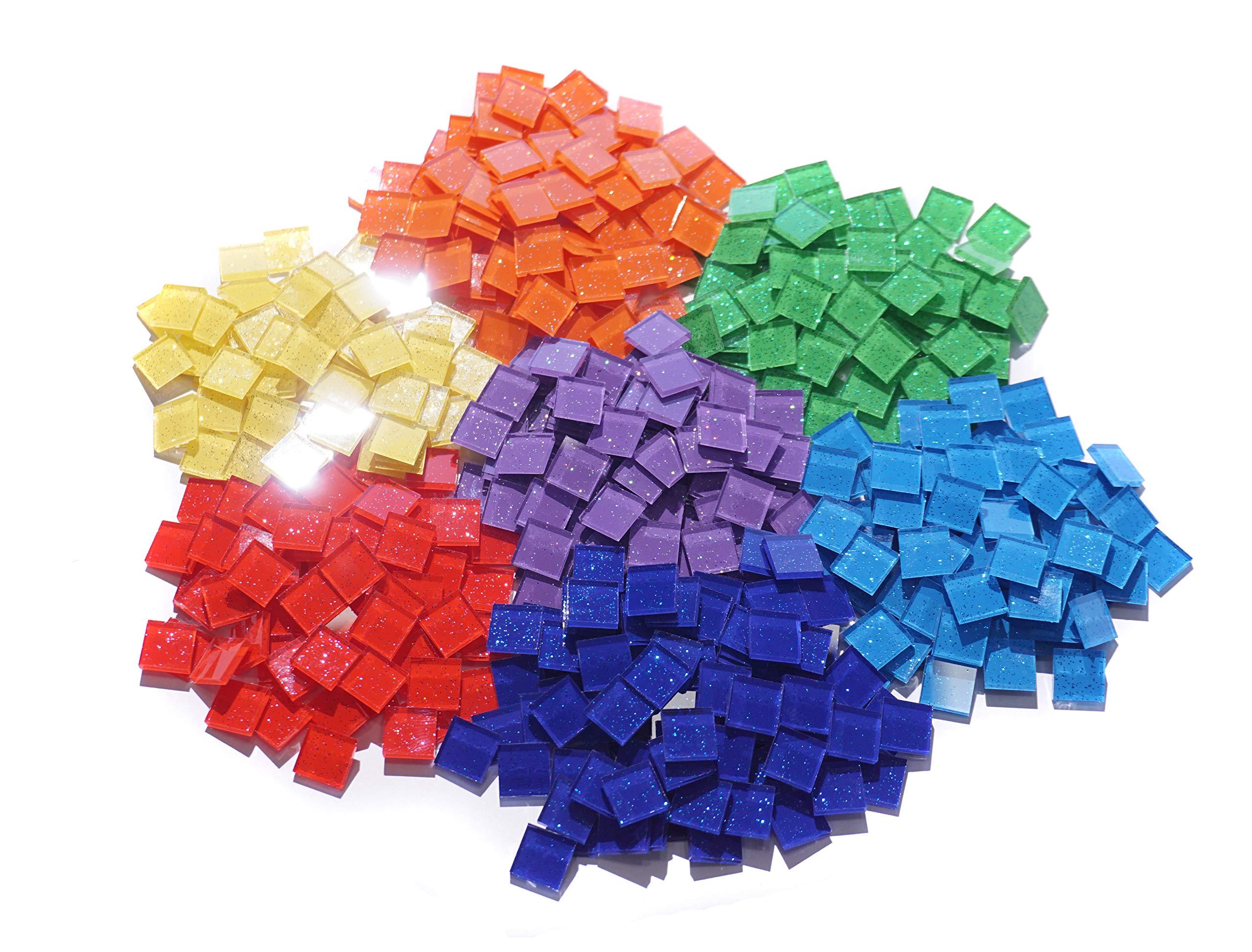 3/8'' Square Assorted Color Glass Mosaic Tile -1000pcs by Aleksander Hreben