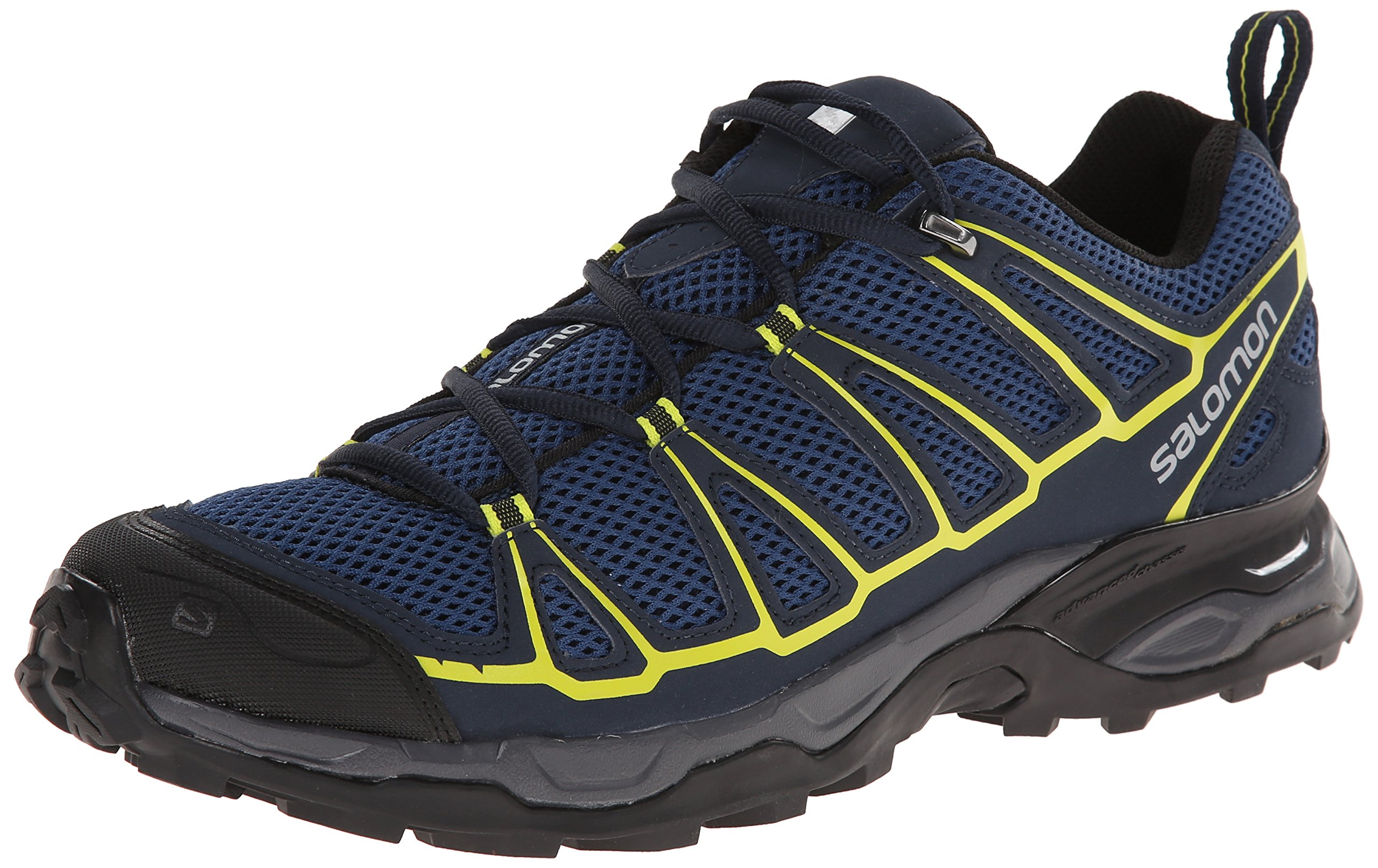 Salomon Men's X Ultra Prime Multifunctional Hiking Shoe, Fjord/Deep Blue/Gecko Green, 7 M US by Salomon