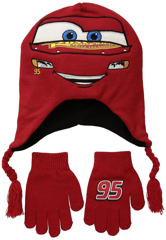 Beanie Cap - Disney - Cars 3 - Lightning McQueen Hat & Glove Set 668842 ECCA3331AZ-600