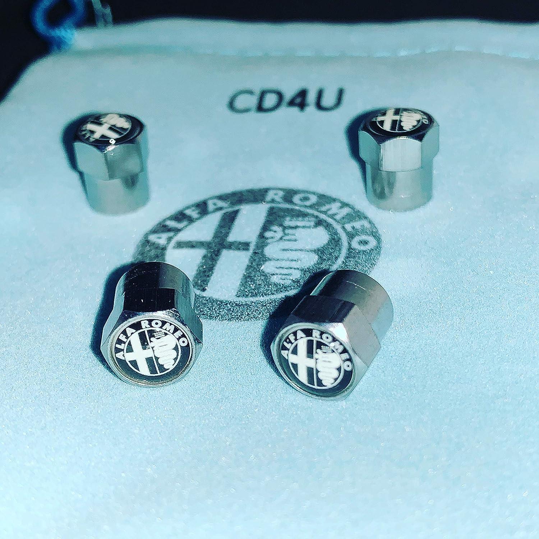 CD4U Tapones Antipolvo para válvulas de Coche Alfa Romeo, Color ...