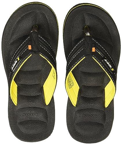 b5d805bb8b5 Sparx Men s Black Yellow Flip Flops Thong Sandals - 7 UK India (40.67 EU