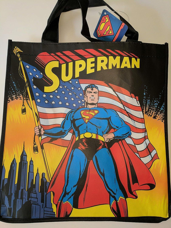 DC Comics Superman Holding American Flag Bolsa: Amazon.es: Hogar