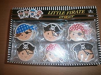 Schnooridoo 4 x Piraten Schreibset 4-teilig Piratenparty Schule Mitgebsel Kindergeburtstag Give Away Tombola
