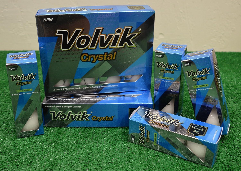 3ダースVolvikクリスタルホワイトゴルフボール – 新しいinボックス B0714G2PLT